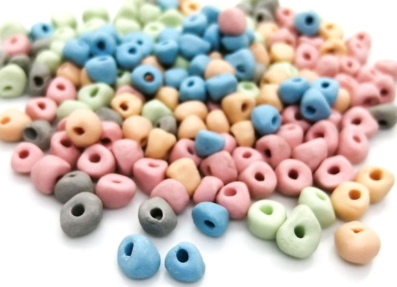 Teeny Rock Beads - Small Porcelain Nuggets Pack of 20