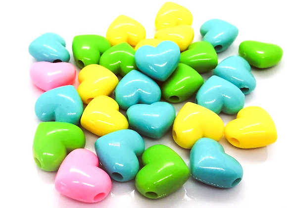 Acrylic Heart Bead Large Hole