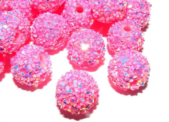 Pearl Pink Snowflake Bead Large Pack of 10
