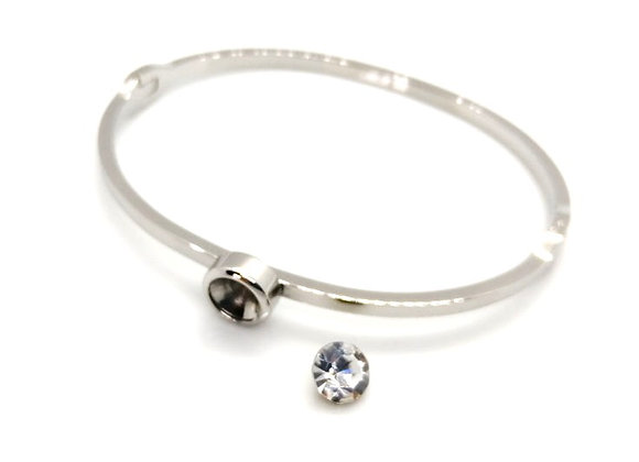 Stainless Steel & Crystal Bangle Kit