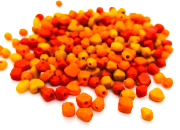 Little Bead Mix - Opaque Orange - Pack of 200