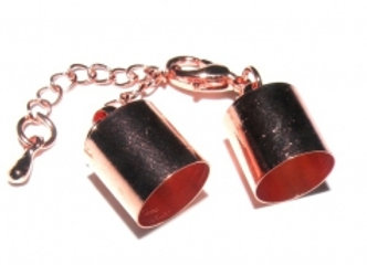 Bright Copper Bell Closer 10mm with Clasp & Chain