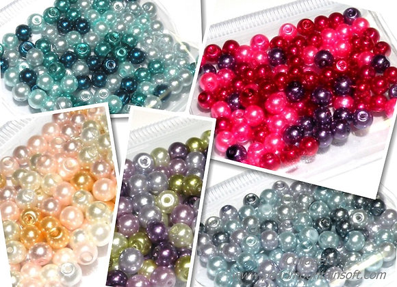 Glass Pearl Bead Mix 3mm - Choice of Colours - Pack of 100