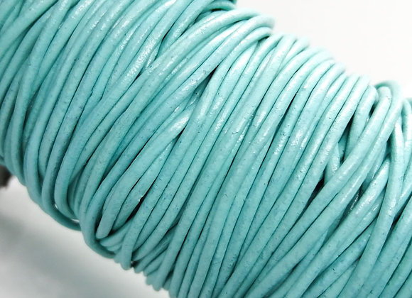 Round Indian Leather - Light Turquoise 2mm