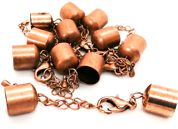 Copper Bell Closer 10mm Hole with Clasp & Chain