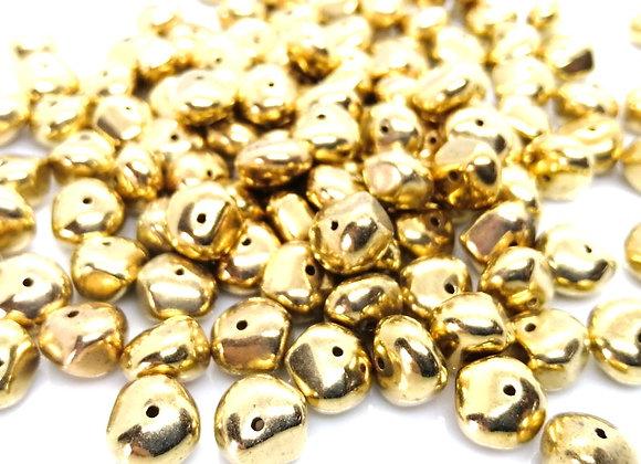 Acrylic Gold Nugget Bead 10x5mm