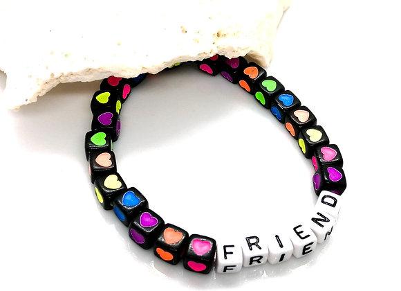Elastic Bracelet Kit - Cube Hearts 'Friend'