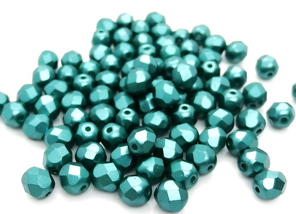 Preciosa Czech Fire Polished Bead Pastel Teal Pack of 25