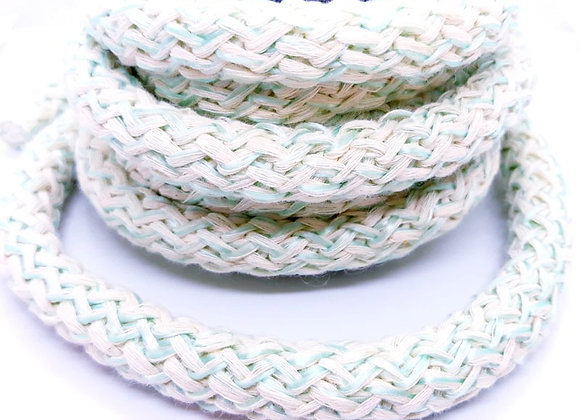 Large Knitted Round Cord - Aqua - 88cm length