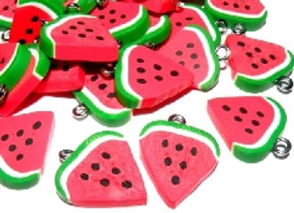 Polymer Clay Watermelon Charm