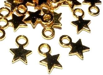 Gold Star Mini Charms
