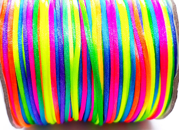 2mm satin cord for macrame jewellery making rattail