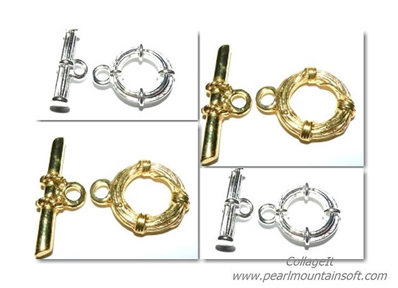 Chunky Nautical Toggle Clasp - Gold or Silver