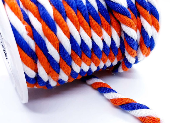 Braided Cotton Cord 6mm - Nautical