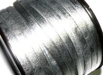 Pearl Metallic Silver Flat Nappa Leather 5mm