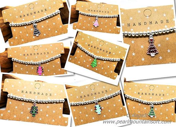 Christmas Tree Charm Bracelet Kit - Choice of Colours