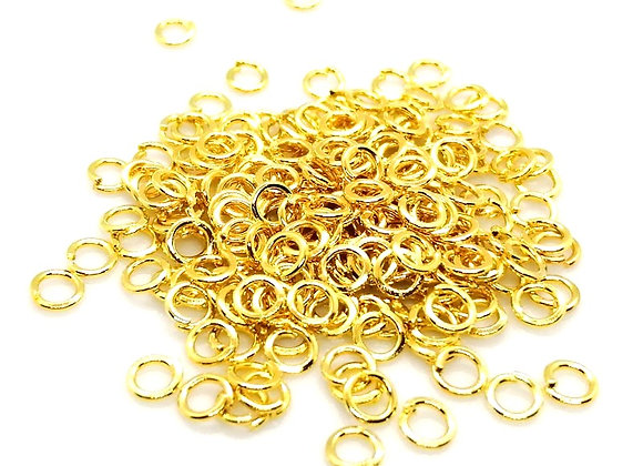 4mm gold open jump rings