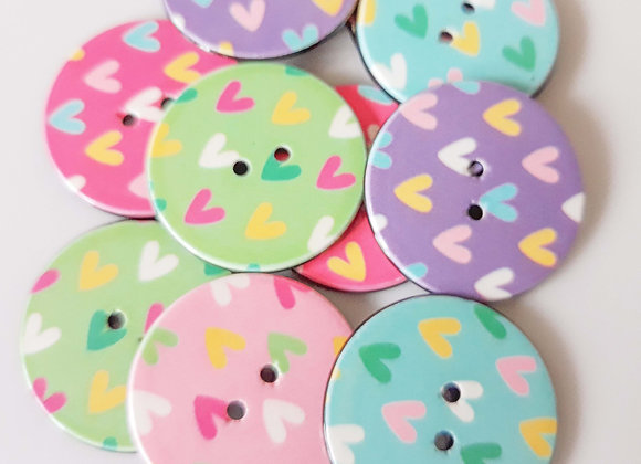 Heart Button Mix Pack of 10