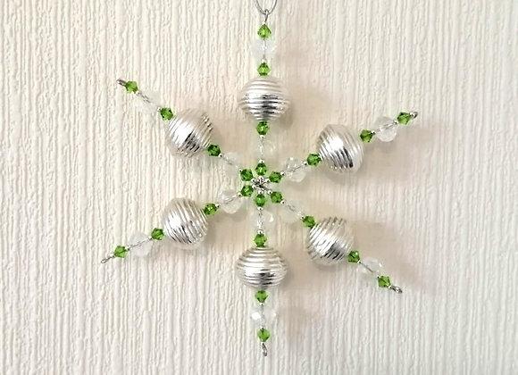 """Green & Silver Snowflake Kit 4.5"""""""