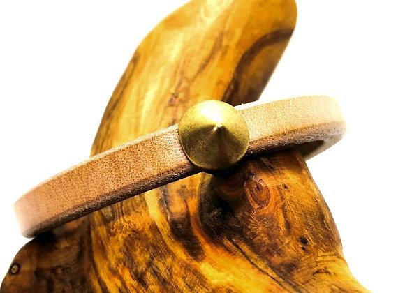 Zamak Metal Slider for Regaliz Leather - Old Gold Spike