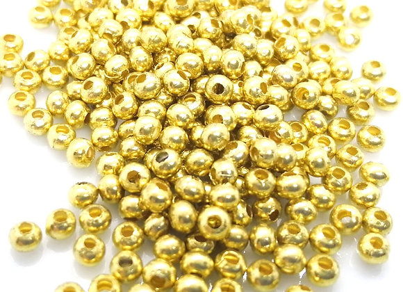 Gold Round Bead 3mm Pack of 100