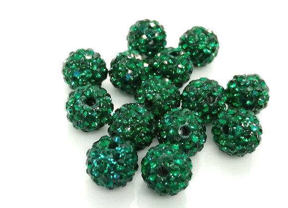Baby Sham Green Grade A Crystals 8mm
