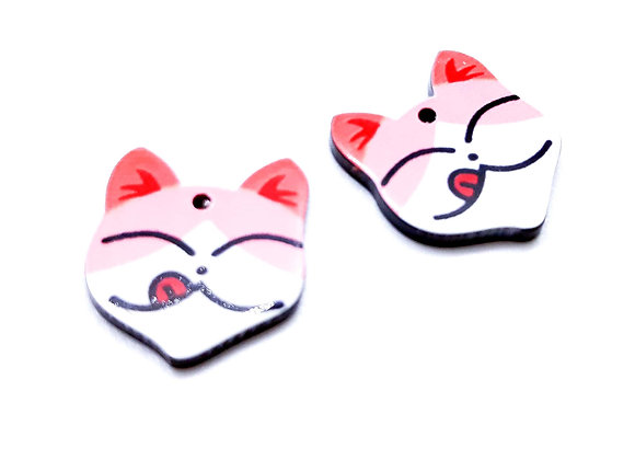 Resin Cute Cat Lick Charms Pack of 2