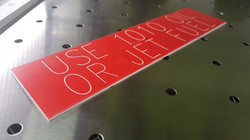 Plastic engraving and cutting