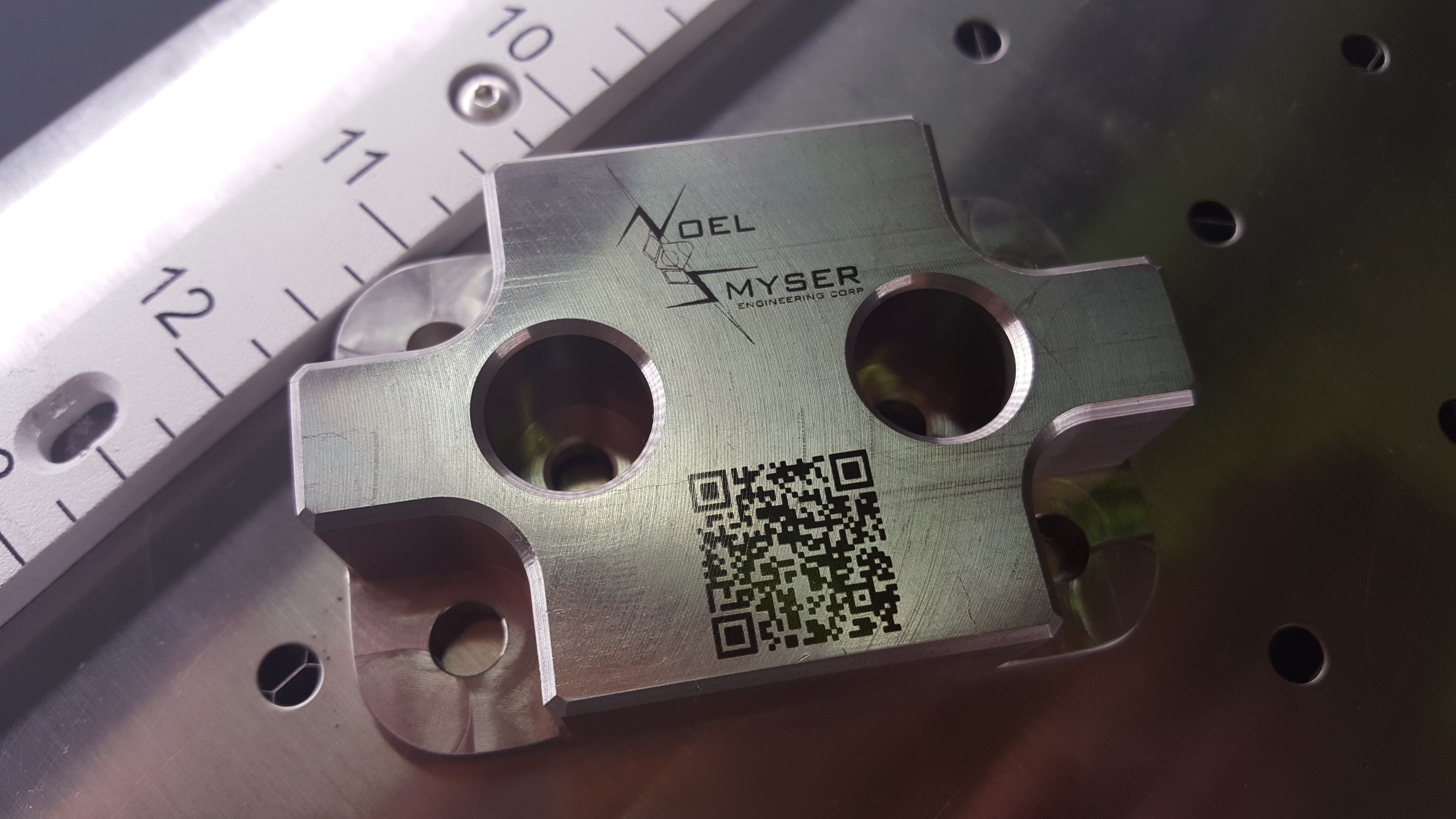 Machining and laser marking