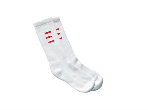 "White ""TANDEM"" Socks"