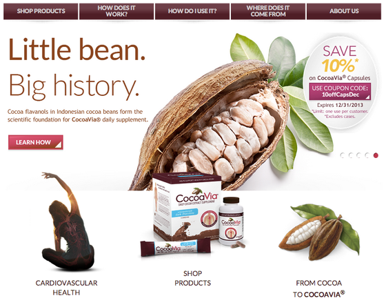 Website Copy and Social Media Development (CocoaVia)