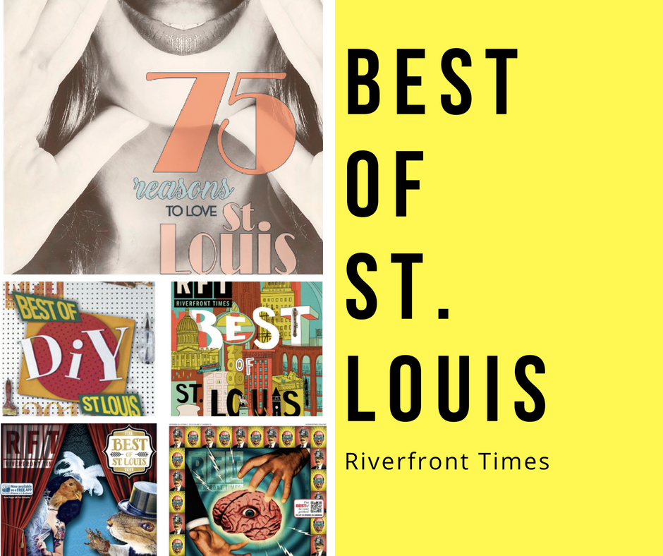 """Collage of five covers from the Riverfront Times' """"Best of St. Louis"""" annual issue"""