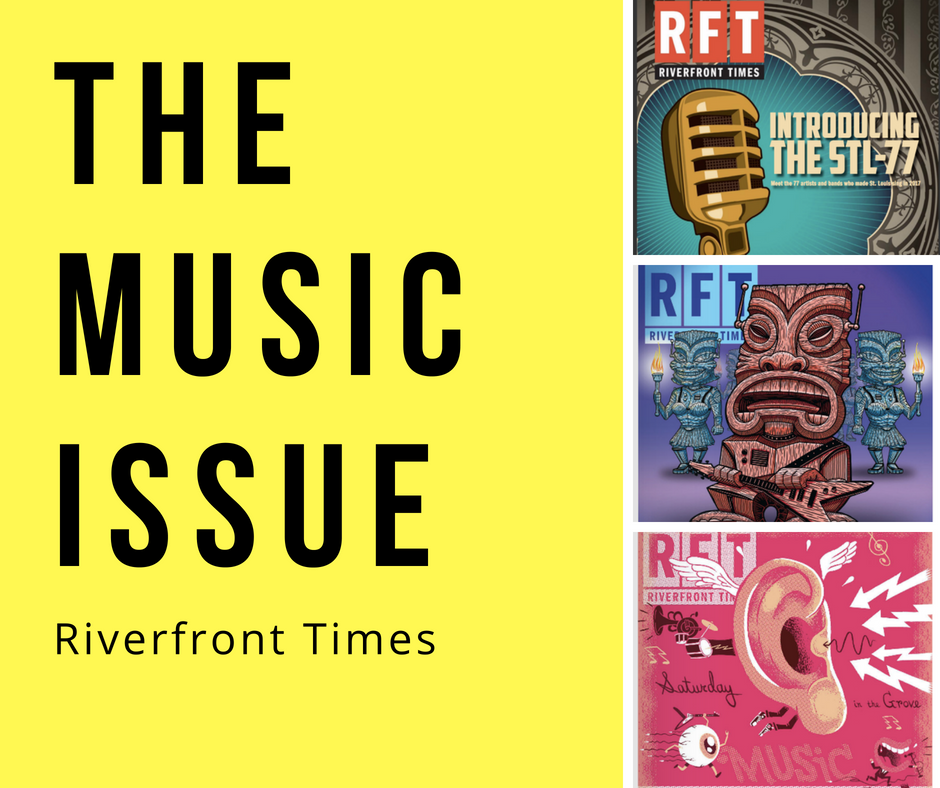 Collage of three covers from the Riverfront Times' annual music issue