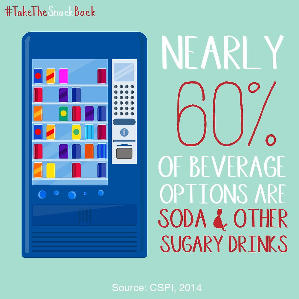 Illustration of a beverage vending machine