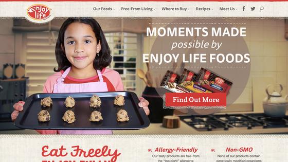 Website Copy Development and Editing (Enjoy Life Foods)