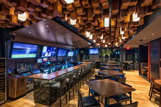 Vegas Swank in West County: Joey B's on Manchester (SPACE Architecture)