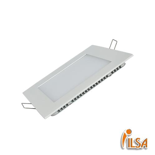 Panel LED 12W cuadrado (incrustar)