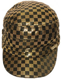 Gold And Black Checkers