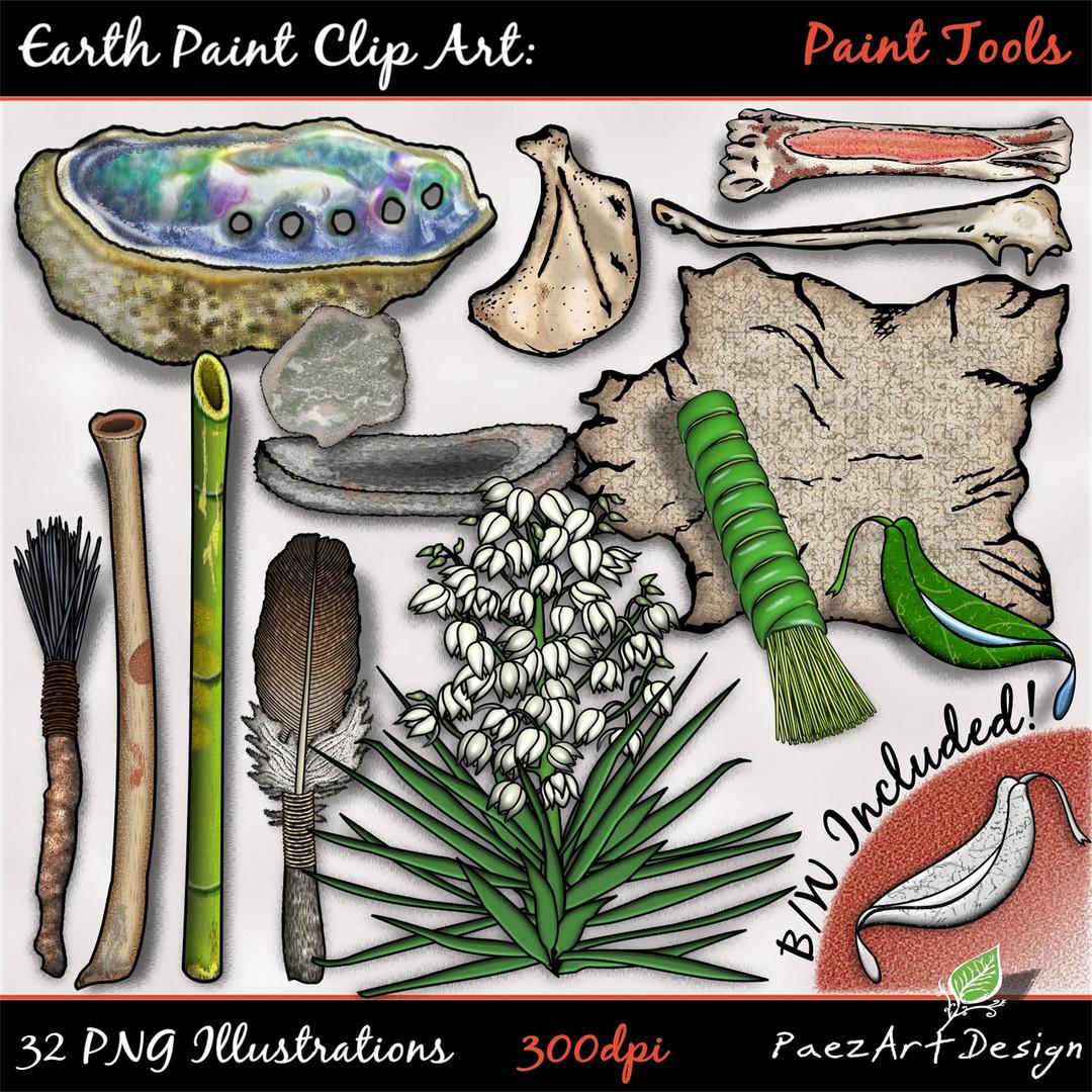 Earth Paint Clip Art: Paint Tools {PaezArtDesign}