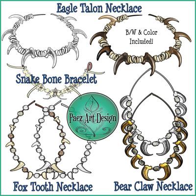 Prehistoric Era Clip Art, Jewelry {PaezArtDesign}