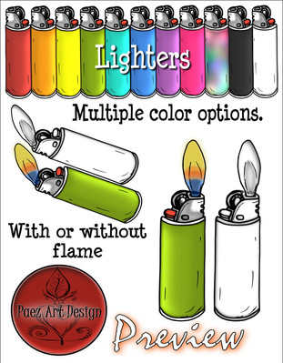 Build Your Own Fire Clip Art: Ignition {PaezArtDesign}