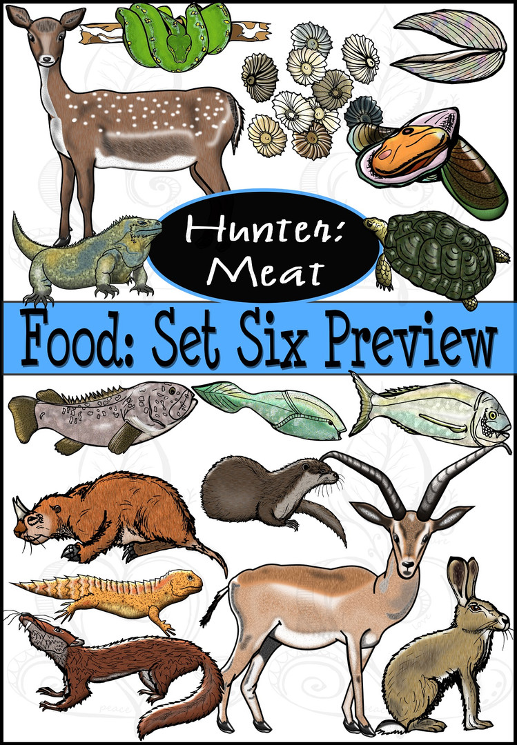 Prehistoric Era Foods: Hunter- Meat {PaezArtDesign}