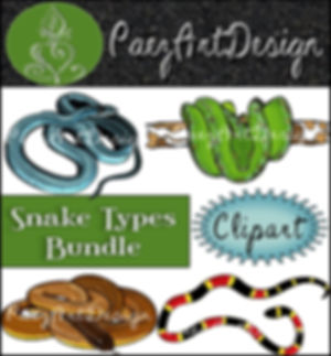 Snake Tyes Clip Art BUNDLE {PaezArtDesign}