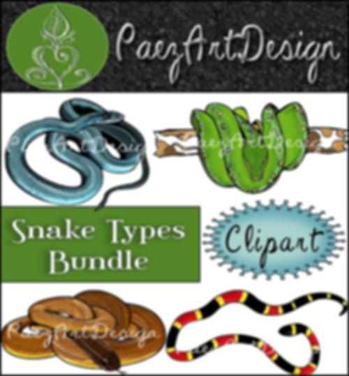 Snake Tyes Clip Art BUNDLE {PaezArtDesign}