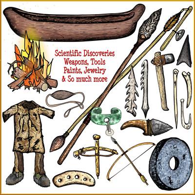 Prehistoric Invention Clip Art