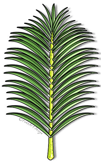 Prehistoric Era Clip Art Images | Vegetation, Plants, Palm Branch & More | History & Science Graphics | PaezArtDesign Digital Arts