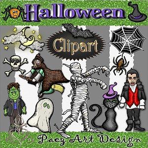 Halloween ClipArt | Holiday Designs | PaezArtDesign Digital Art