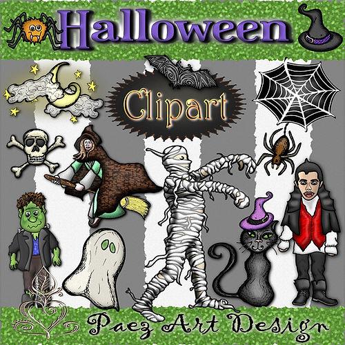 Halloween Graphics | Holiday Clip Art | PaezArtDesig Digital Art