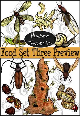 Prehistoric Era Foods: Hunter- Insects {PaezArtDesign}