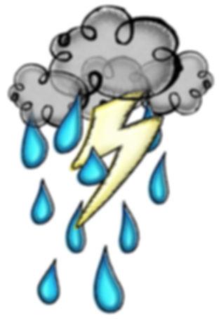 Seasonal clip art illustrations | Storm Cloud | Spring, Summer | PaezArtDesign